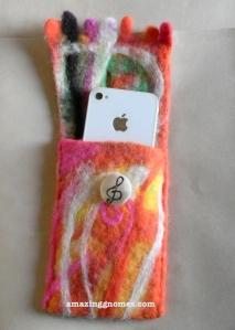 Handmade felted wallet