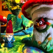 wizard gnome with owl