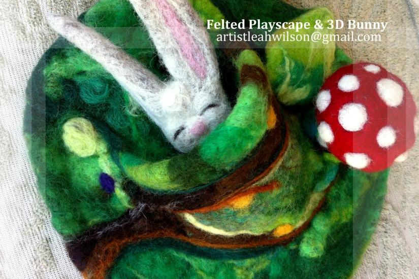 Artist Leah Wilson 4x6 2 bunny playscape
